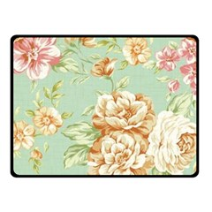 Vintage Pastel Flower Fleece Blanket (small) by Brittlevirginclothing