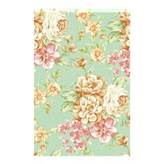 Vintage Pastel Flower Shower Curtain 48  X 72  (small)  by Brittlevirginclothing