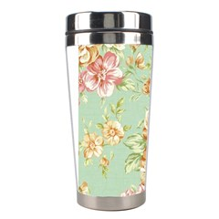 Vintage Pastel Flower Stainless Steel Travel Tumblers by Brittlevirginclothing
