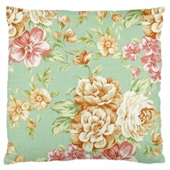 Vintage Pastel Flower Standard Flano Cushion Case (one Side) by Brittlevirginclothing