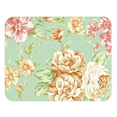 Vintage Pastel Flower Double Sided Flano Blanket (large)  by Brittlevirginclothing