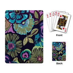 Dark Lila Flower Playing Card by Brittlevirginclothing
