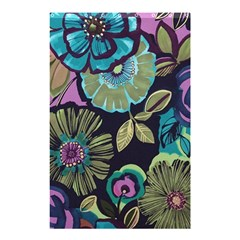 Dark Lila Flower Shower Curtain 48  X 72  (small)  by Brittlevirginclothing