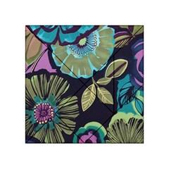 Dark lila flower Acrylic Tangram Puzzle (4  x 4 ) by Brittlevirginclothing