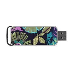 Dark Lila Flower Portable Usb Flash (two Sides) by Brittlevirginclothing