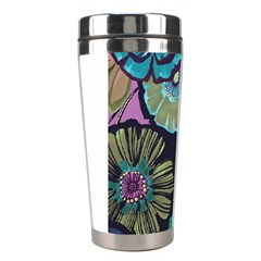 Dark Lila Flower Stainless Steel Travel Tumblers by Brittlevirginclothing