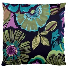 Dark Lila Flower Large Flano Cushion Case (one Side) by Brittlevirginclothing