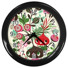 Cute Cartoon Wall Clocks (black) by Brittlevirginclothing