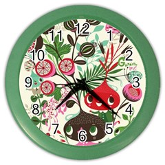 Cute Cartoon Color Wall Clocks by Brittlevirginclothing
