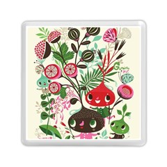 Cute Cartoon Memory Card Reader (square)  by Brittlevirginclothing