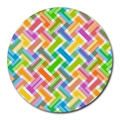 Abstract Pattern Colorful Wallpaper Round Mousepads by Amaryn4rt