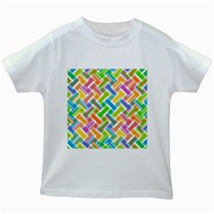 Abstract Pattern Colorful Wallpaper Kids White T Shirts by Amaryn4rt