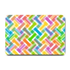 Abstract Pattern Colorful Wallpaper Small Doormat  by Amaryn4rt