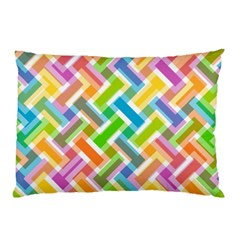 Abstract Pattern Colorful Wallpaper Pillow Case by Amaryn4rt