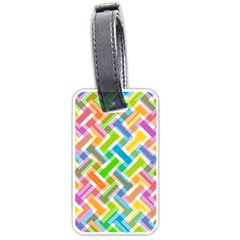 Abstract Pattern Colorful Wallpaper Luggage Tags (one Side)  by Amaryn4rt