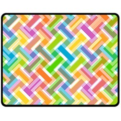 Abstract Pattern Colorful Wallpaper Double Sided Fleece Blanket (medium)  by Amaryn4rt
