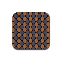Abstract Seamless Pattern Rubber Coaster (square)  by Amaryn4rt