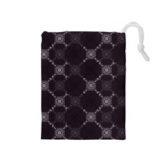 Abstract Seamless Pattern Drawstring Pouches (medium)  by Amaryn4rt