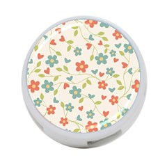 Abstract Vintage Flower Floral Pattern 4 Port Usb Hub (two Sides)  by Amaryn4rt