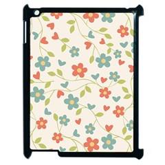 Abstract Vintage Flower Floral Pattern Apple Ipad 2 Case (black) by Amaryn4rt