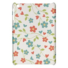 Abstract Vintage Flower Floral Pattern Apple Ipad Mini Hardshell Case by Amaryn4rt