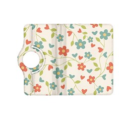 Abstract Vintage Flower Floral Pattern Kindle Fire Hd (2013) Flip 360 Case by Amaryn4rt