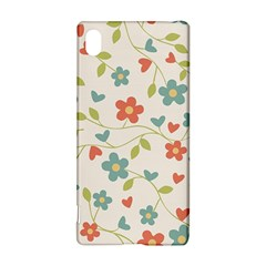 Abstract Vintage Flower Floral Pattern Sony Xperia Z3+ by Amaryn4rt