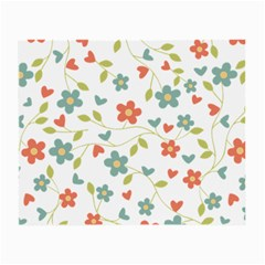 Abstract Vintage Flower Floral Pattern Small Glasses Cloth (2 Side)