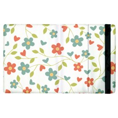 Abstract Vintage Flower Floral Pattern Apple Ipad 3/4 Flip Case by Amaryn4rt