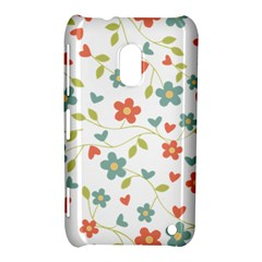 Abstract Vintage Flower Floral Pattern Nokia Lumia 620 by Amaryn4rt