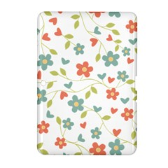 Abstract Vintage Flower Floral Pattern Samsung Galaxy Tab 2 (10 1 ) P5100 Hardshell Case  by Amaryn4rt