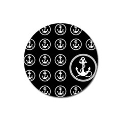 Anchor Pattern Magnet 3  (round) by Amaryn4rt