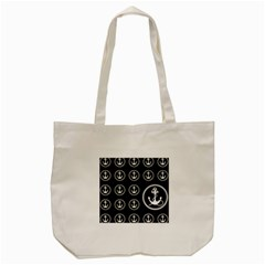 Anchor Pattern Tote Bag (cream) by Amaryn4rt