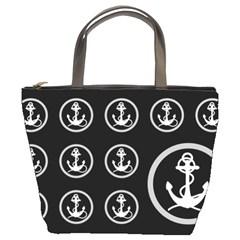 Anchor Pattern Bucket Bags by Amaryn4rt