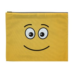 Smiling Face With Open Eyes Cosmetic Bag (xl) by sifis