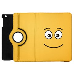 Smiling Face With Open Eyes Apple Ipad Mini Flip 360 Case by sifis