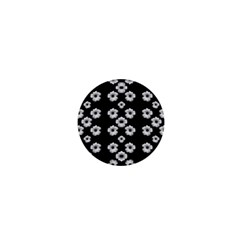 Dark Floral 1  Mini Magnets by dflcprints