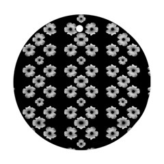 Dark Floral Ornament (round) by dflcprints