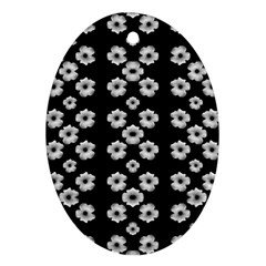 Dark Floral Ornament (oval) by dflcprints