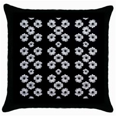 Dark Floral Throw Pillow Case (black) by dflcprints