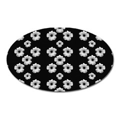 Dark Floral Oval Magnet by dflcprints