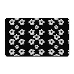 Dark Floral Magnet (rectangular) by dflcprints