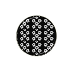 Dark Floral Hat Clip Ball Marker (4 Pack) by dflcprints