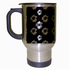 Dark Floral Travel Mug (silver Gray) by dflcprints