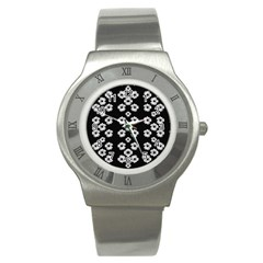 Dark Floral Stainless Steel Watch by dflcprints