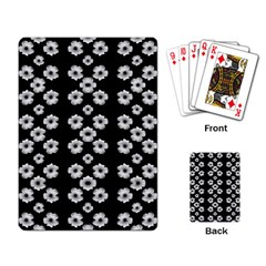 Dark Floral Playing Card by dflcprints