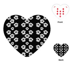 Dark Floral Playing Cards (heart)  by dflcprints