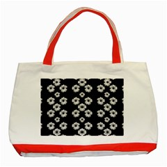 Dark Floral Classic Tote Bag (red) by dflcprints