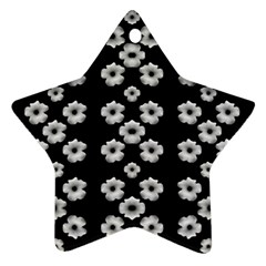 Dark Floral Star Ornament (two Sides) by dflcprints