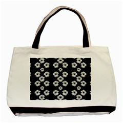 Dark Floral Basic Tote Bag (two Sides) by dflcprints